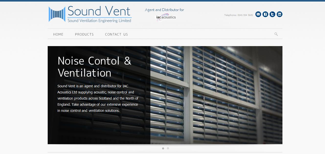 SoundVent Website